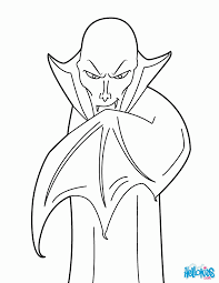 vampire coloring page coloring home