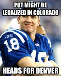 Manning Meme - photos peyton manning s pot and pizza comment proves meme makers