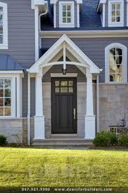 elegant home with entry door and sidelights opal provia heritage