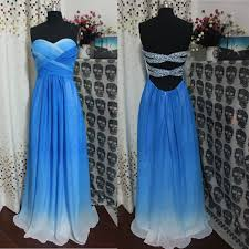 a line sweetheart royal blue ombre prom dress open back gradient