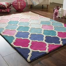 Modern Kids Rug Illusion Rosella Rugs In Pink And Blue Free Uk Delivery The