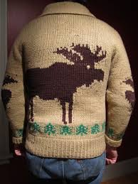 the moose sweater speaks in maine