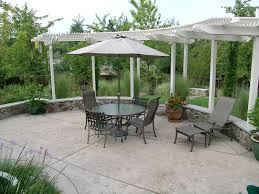 Backyard Stamped Concrete Patio Ideas Pictures Of Stamped Concrete Patios Spaces Contemporary With Glass