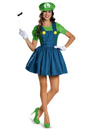 Deluxe Womens Halloween Costumes Women U0027s Luigi Dress Costume