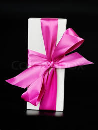 bows for gift boxes gift box with a big pink bow stock photo colourbox