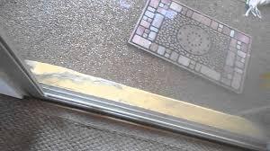 fix glass door bumpy grindy hard to open sliding glass door the one minute fix