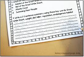 common core reading homework review for upper elementary