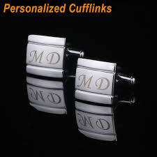 personalized engraving customized name cufflinks personalized engraving metel wedding