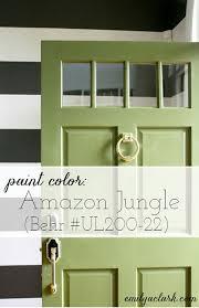 our new green front door green front doors door paint colors