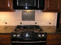 Kitchen Backsplash Behind Stove Medallion Show Me Your Subway - Kitchen medallion backsplash