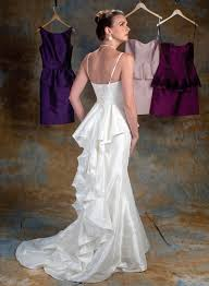the peplum bridal gown