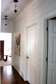 Hallway Lighting Ideas by Planked Wall Hallway Gets New Light Fixtures Planked Walls