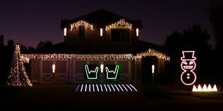 christmas decorations light show heavy metal christmas lights show would make slayer proud pcworld