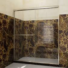 Clear Glass Shower Door by Sunny Shower 56