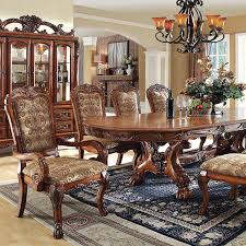 medieve transitional cherry dining set