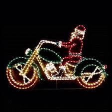 animated santa animated santa on motorcycle