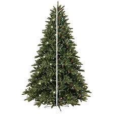 shop ge 7 5 ft pre lit frasier fir artificial christmas tree with