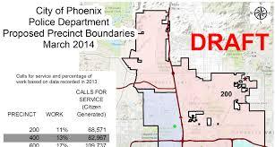Phx Map Phoenix Police Department Creates New Precinct Boundaries Kjzz