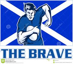 rugby player scotland flag brave stock image image 16981491