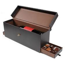 Chocolate Shop Wine 12 Piece Leather Wine Bottle U0026 Chocolate Box