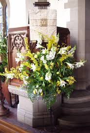 easter church decorations pulpit flowers cathedral flowers easter churches