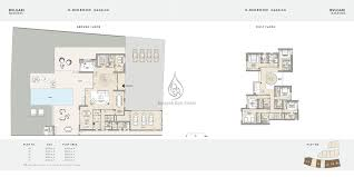 bvlgari apartments 1 bedroom type a b floor plans