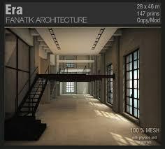 Loft Modern Second Life Marketplace Fanatik Architecture Era Industrial