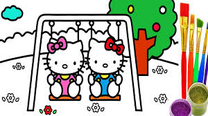 draw kitty coloring pages learn drawing learning