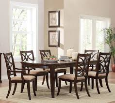 homelegance keegan 7 piece dining room set in brown cherry