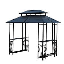 backyard creations steel roof grill gazebo at menards