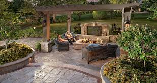 Backyard Patio Pavers Patio Design Ideas Using Concrete Pavers For Big Backyard Style