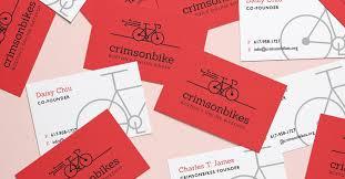 Bicycle Business Cards Crimsonbikes U2014 Melanie Riley Design