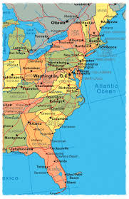 map of east coast states eastern us maps united states map of eastern united states with