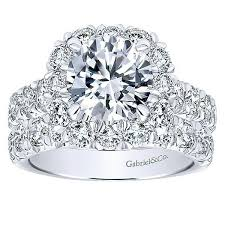 large diamonds rings images 18k white gold french pave large halo diamond engagement ring jpg