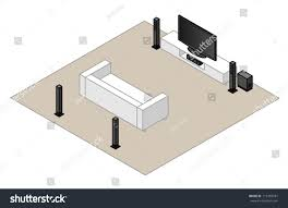 home theater system setup 51 home theatre setup subwoofer centre stock vector 113459581