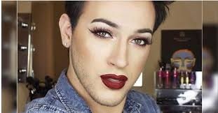 love the red lips and five o clock shadow men who are totally doing