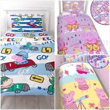 Peppa Pig Toddler Duvet Cover Peppa Pig Duvet Set Ebay