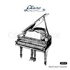 grand piano stock vector colourbox