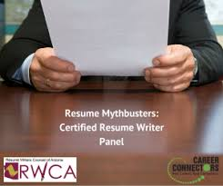 Certified Resume Writer 9 14 17 Resume Mythbusters Certified Resume Writer Panel
