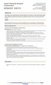 resume of junior financial analyst eliolera com