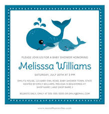 baby shower whale theme and baby whales baby shower invitation the sea