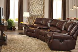 home theater sectionals reclining leather sectionals