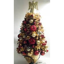 ivory and gold predecorated prelit miniature tree