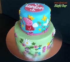 peppa pig cake cakes cupcakes petit fours chocolates torte
