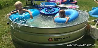 how to make a stock tank pool u2013 embracing motherhood