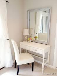 diy bedroom vanity thrift store desk turned bedroom vanity table seen here