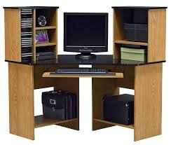 solid wood corner computer desk with hutch cordial metal computer desk open shelves along with keyboard tray