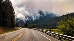Wild Fire Near Billings Mt by Napoleon Fire Burns Northwest Montana Wildfire Fighters