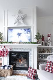 Living Room Mantel Decor Classic Red U0026 White Christmas Mantel Decor The Happy Housie