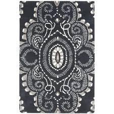 White And Black Area Rug Safavieh Wyndham Grey Black 10 Ft X 14 Ft Area Rug Wyd376d 10